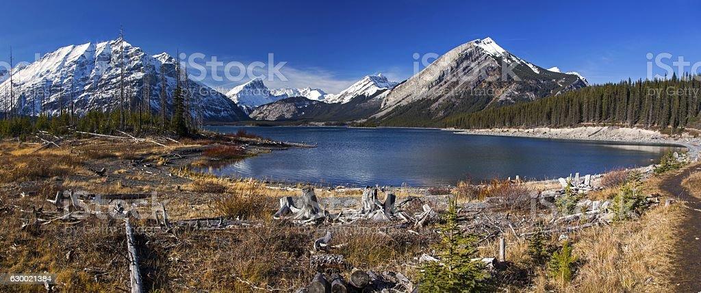Upper Kananaskis Lake stock photo