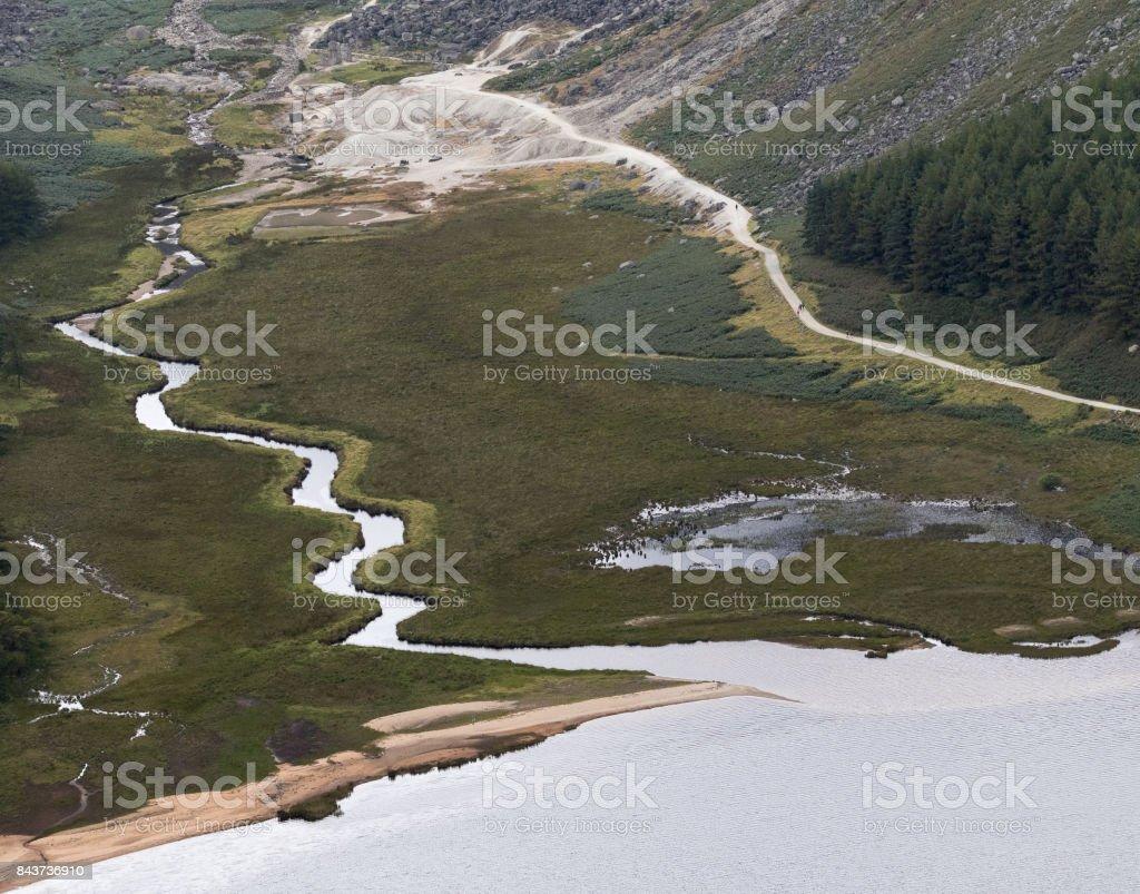 Upper Lake, Glendalough stock photo