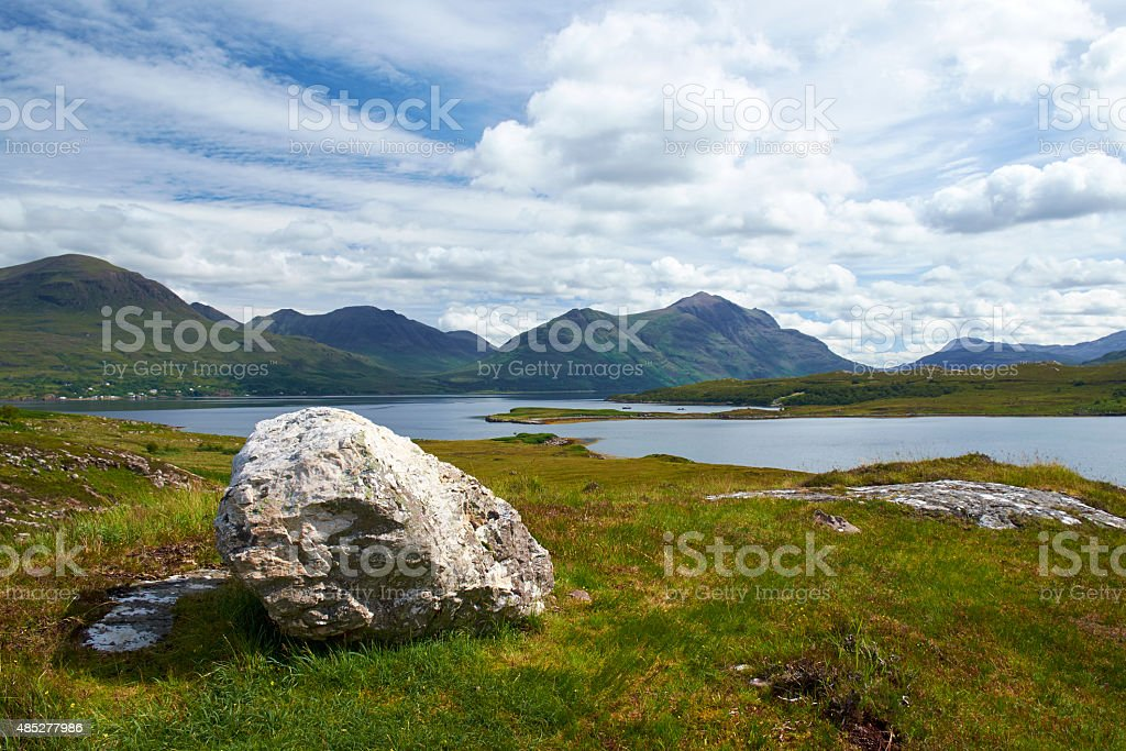 Upper Loch Torridon Scenic stock photo