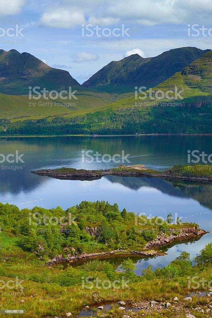 Upper Loch Torridon Vertical Scenic stock photo