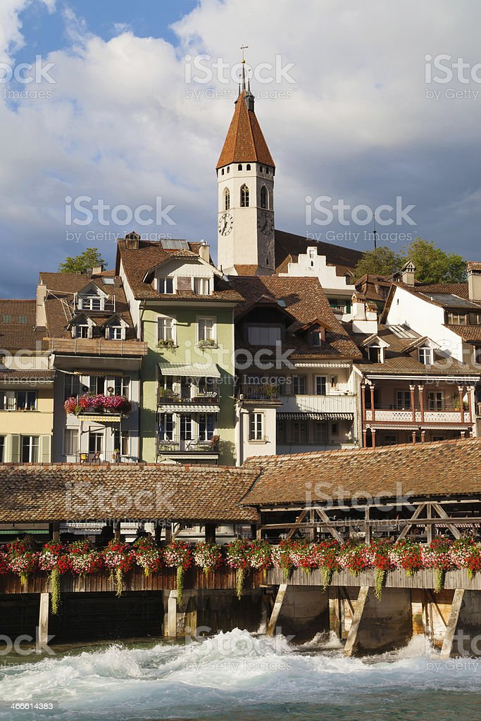 Obere Schleuse and Stadtkirche royalty-free stock photo