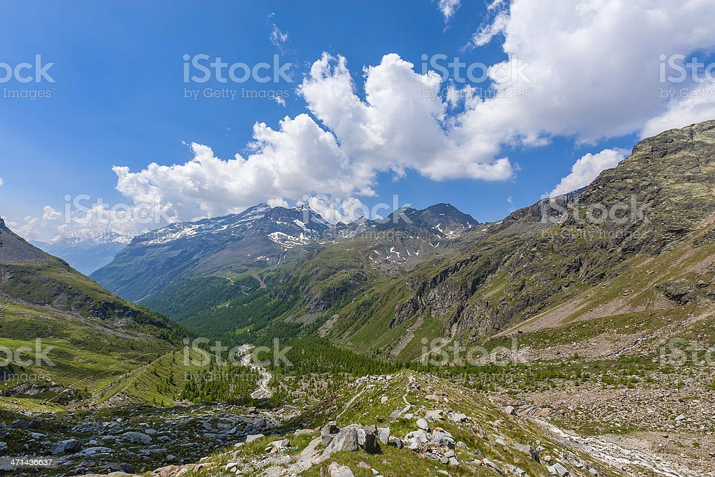 Upper Lys Valley, Italy royalty-free stock photo