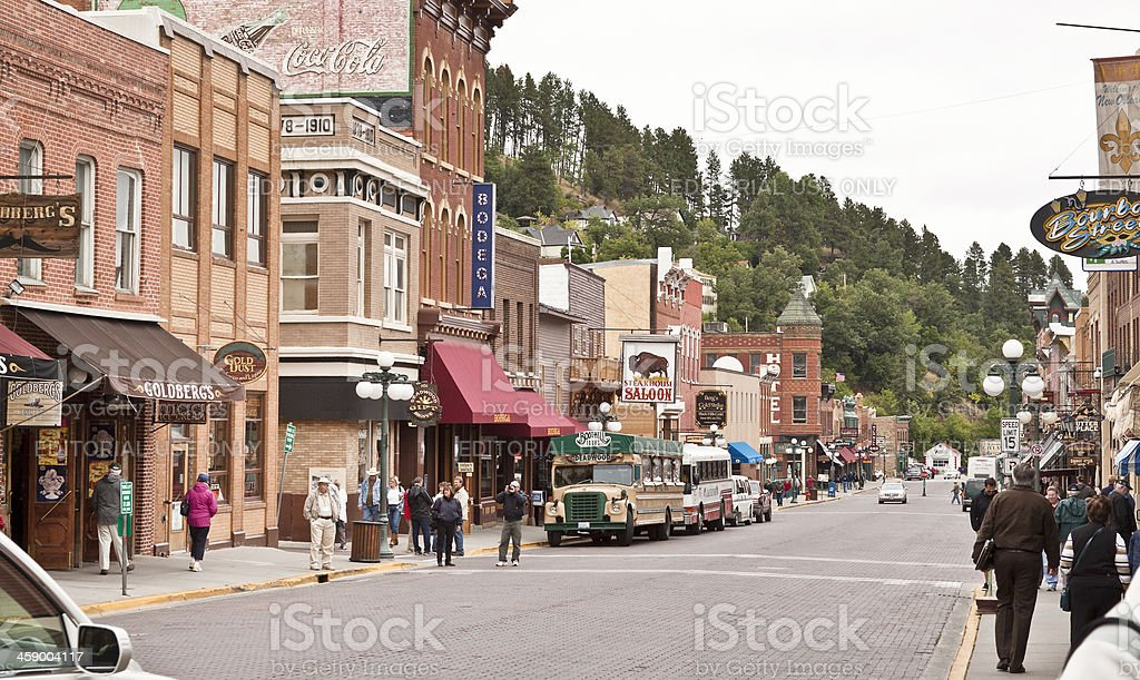 Upper Main Street in Deadwood, South Dakota stock photo