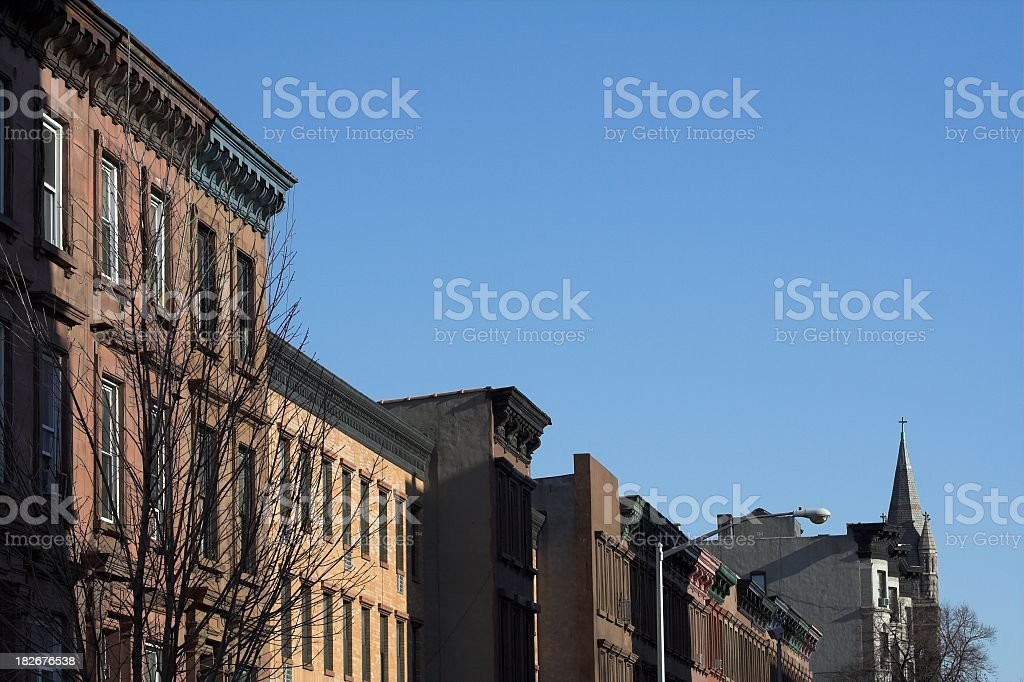 Upper Manhattan Real Estate stock photo