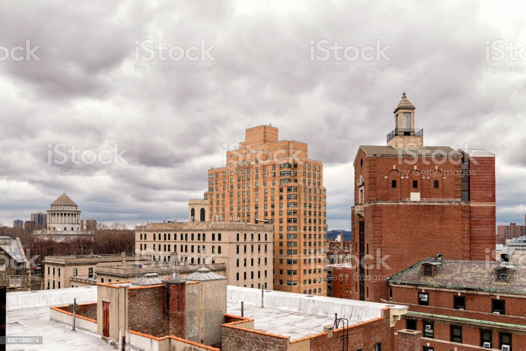 Upper Manhattan Rooftops and Grant's Tomb stock photo