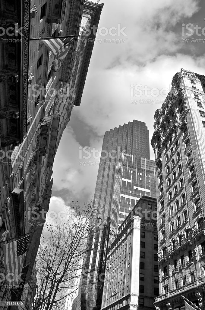 Upper Midtown Manhattan Cityscape, contrasting architectural eras, New York City stock photo