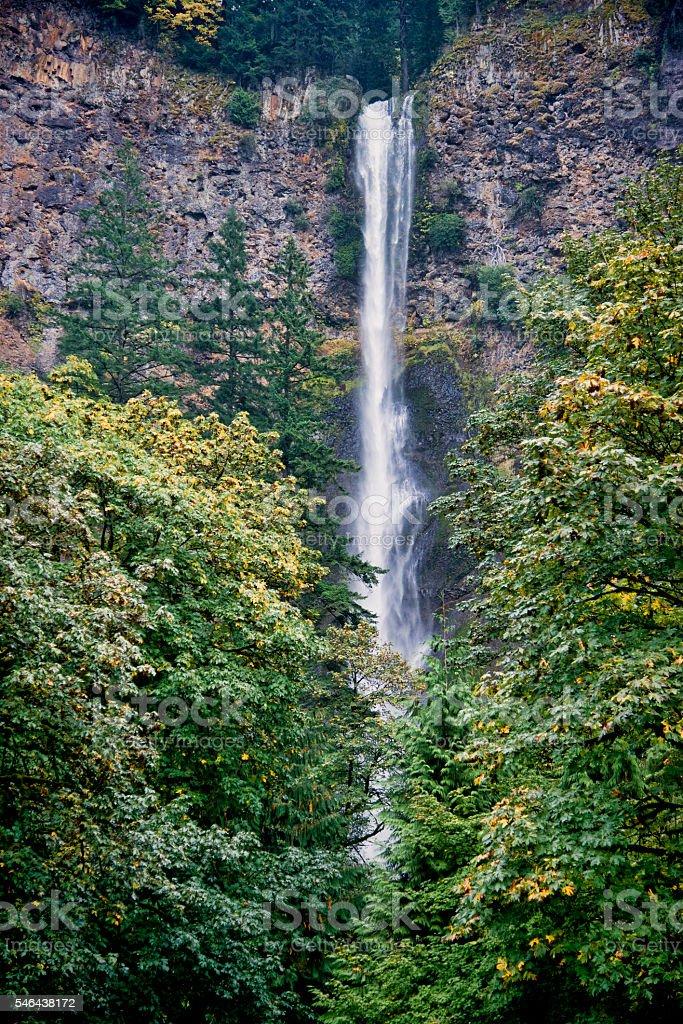 Upper Multnomah Falls stock photo