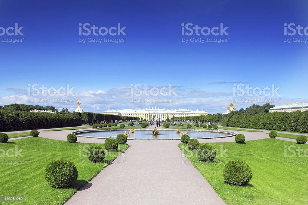 Upper Park in Pertergof, Saint-Petersburg city ,  Russia stock photo