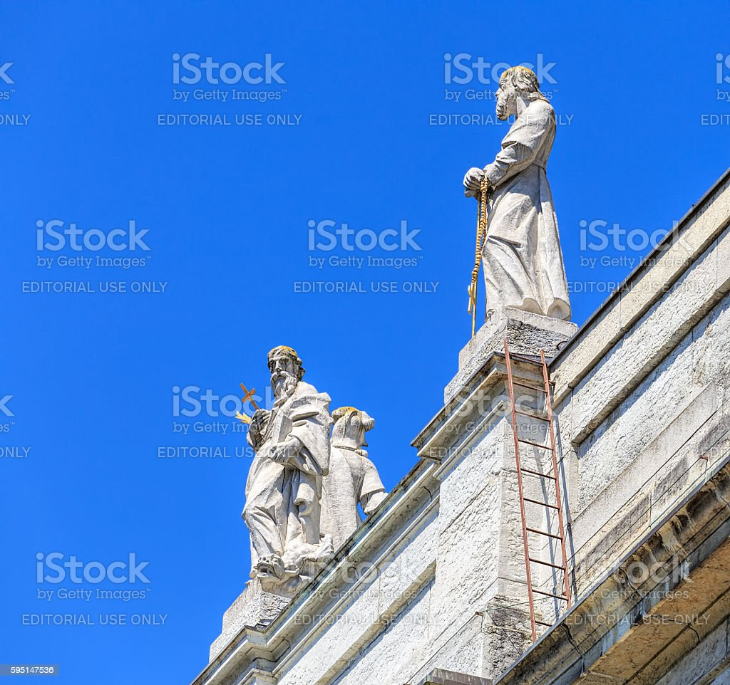 Upper part of the St. Ursus Cathedral building stock photo