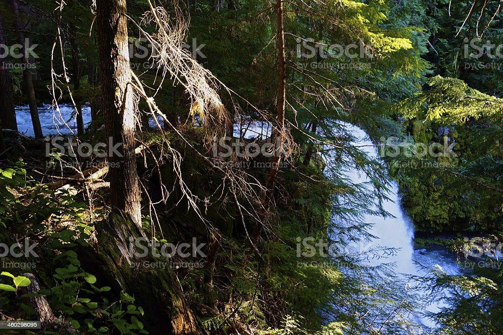 Upper Puzzle Creek Falls stock photo