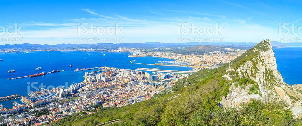 Upper Rock in Gibraltar stock photo