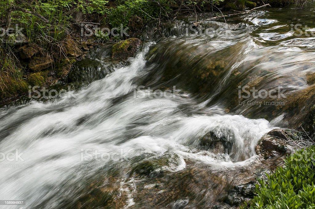 Upper Roughlock Falls royalty-free stock photo
