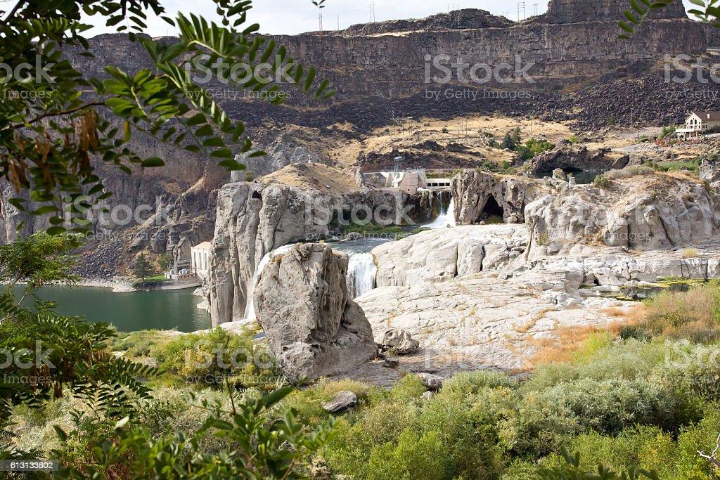 Upper Shoshone Falls Overlook royalty-free stock photo