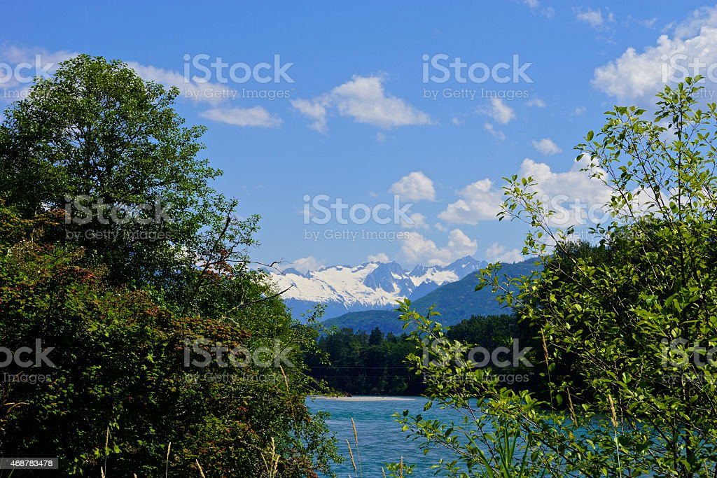 Upper Skagit River stock photo