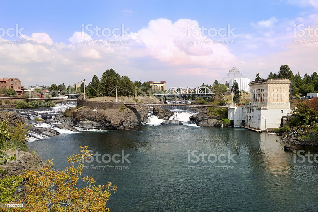 Upper Spokane Falls. stock photo