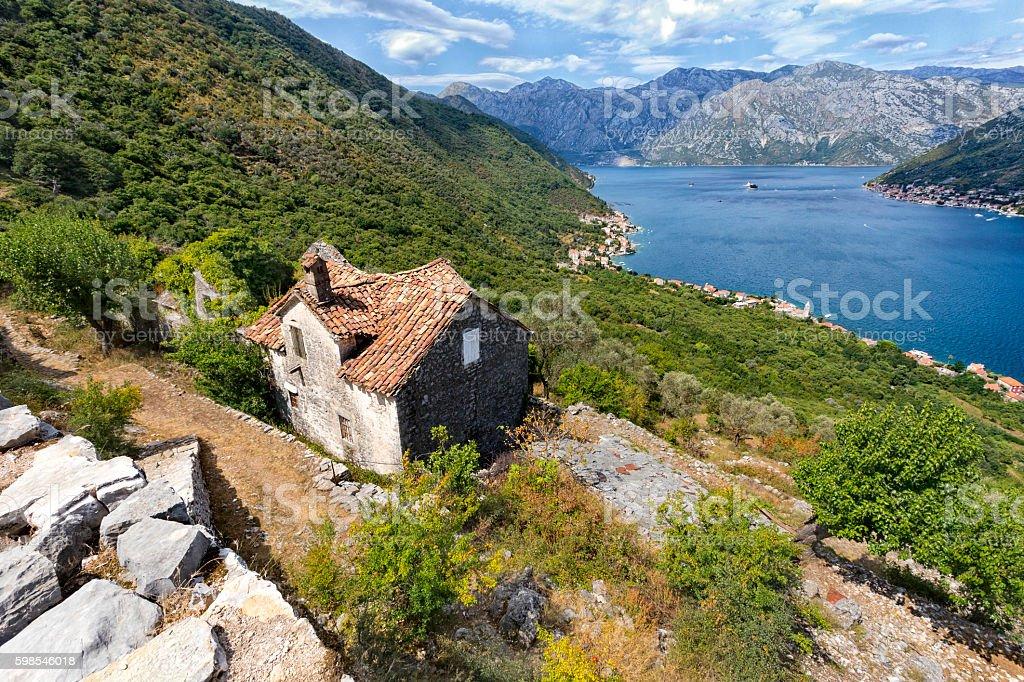 Upper Stoliv village stock photo