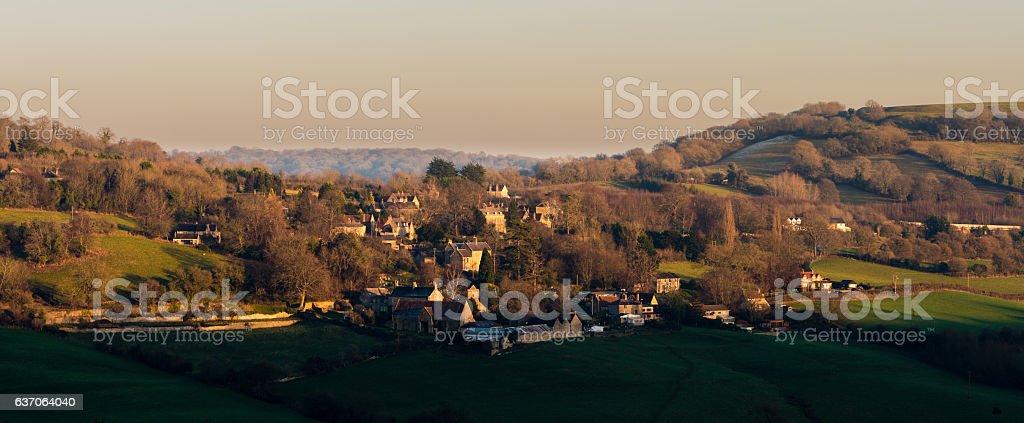 Upper Swainswick village near Bath, Somerset, UK stock photo