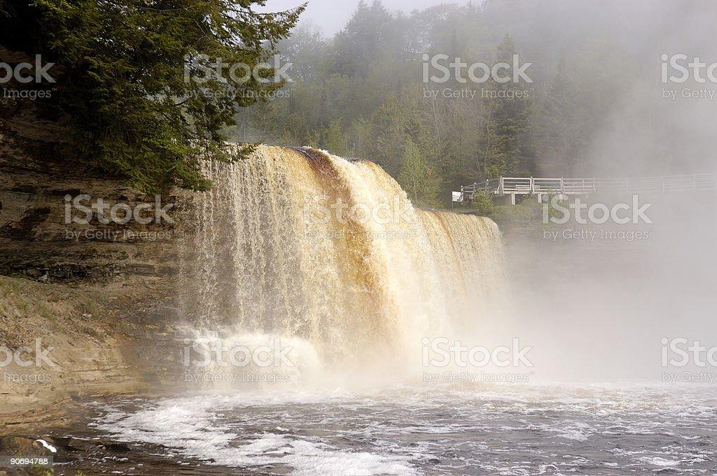 Upper Tahquamenon Falls royalty-free stock photo
