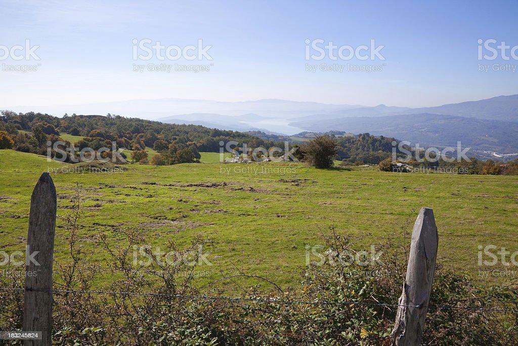 Upper Tiber Valley, Italy stock photo
