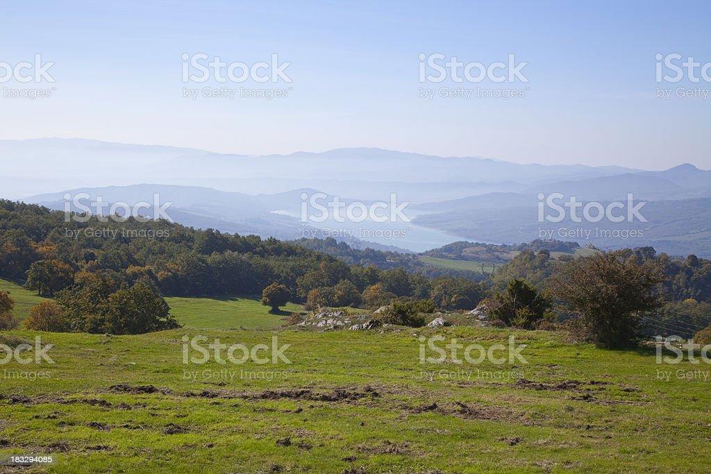 Upper Tiber Valley near Arezzo, Tuscany royalty-free stock photo
