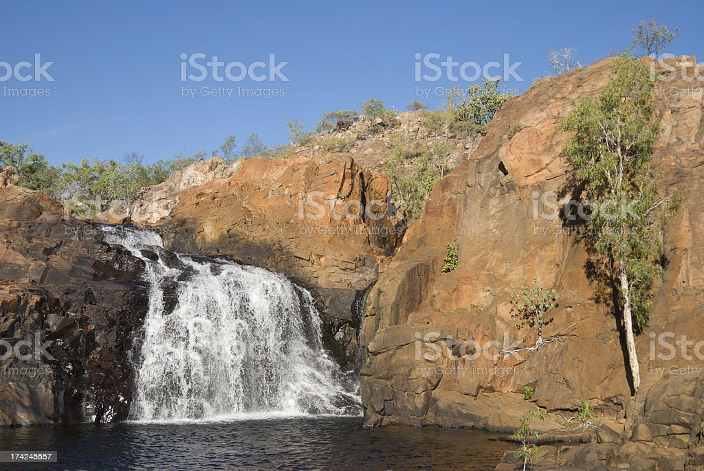 Upper waterfall at Edith Falls royalty-free stock photo