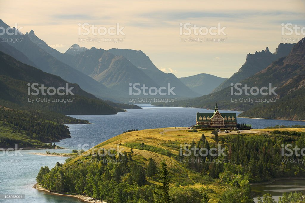 Upper Waterton Lake stock photo
