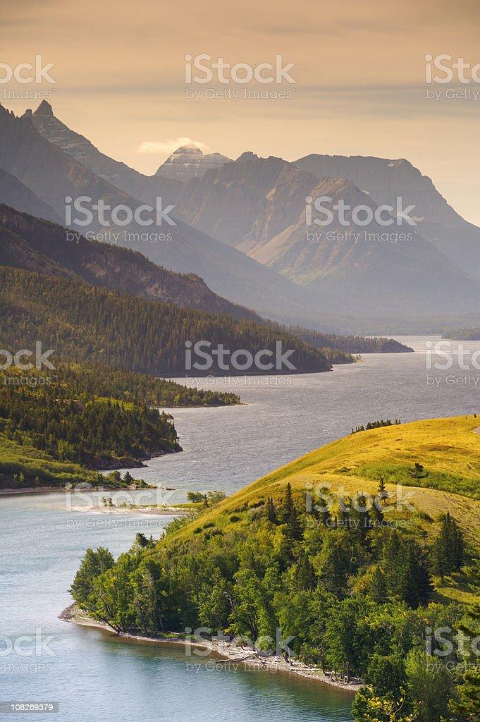 Upper Waterton Lake royalty-free stock photo