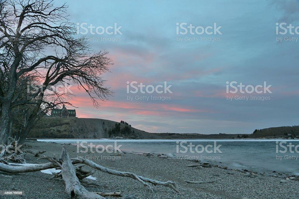 Upper Waterton Lake stock photo