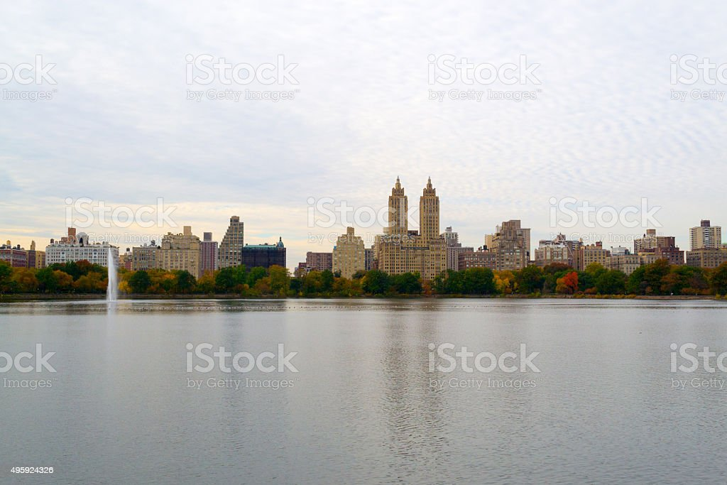Upper West Side during the fall season stock photo