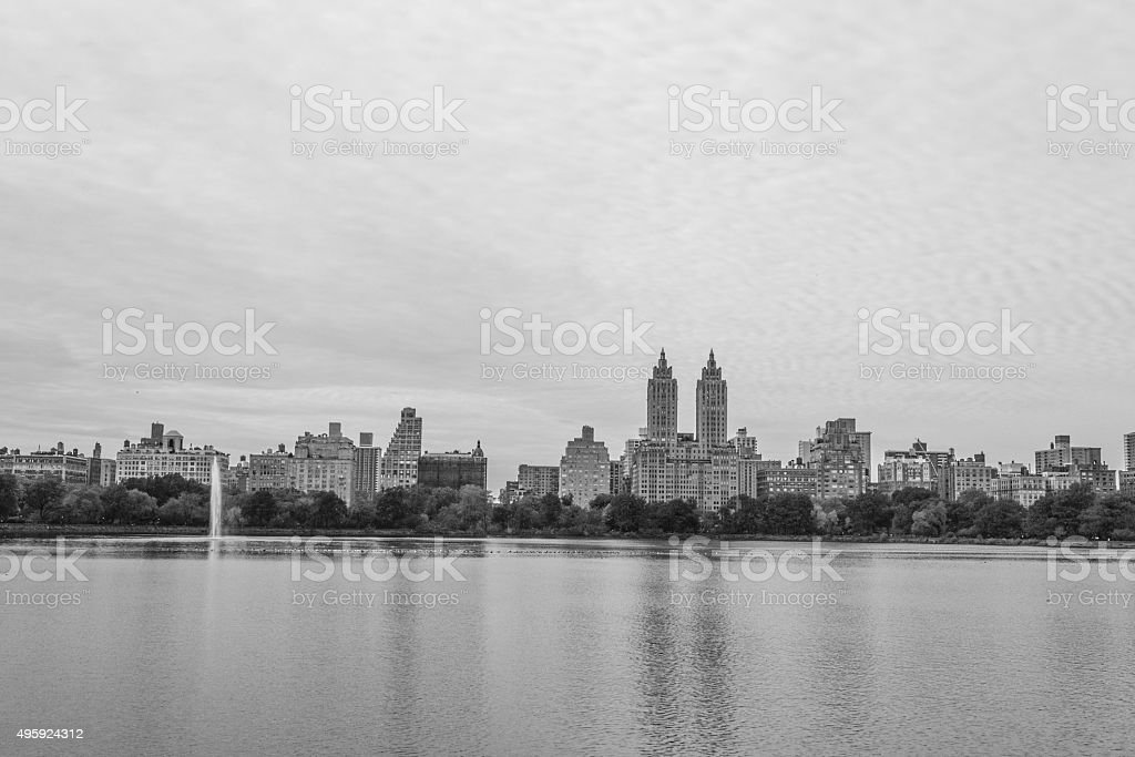 Upper West Side in black and white stock photo