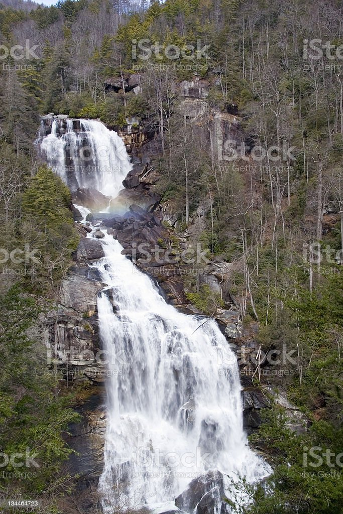 Upper Whitewater Falls From Viewing Platform stock photo