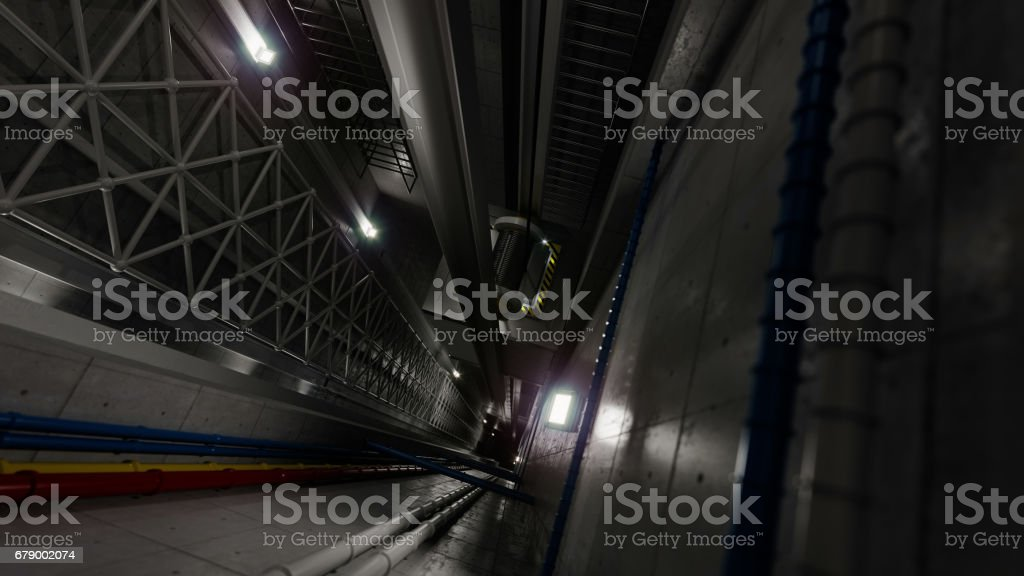 upping elevator lift view inside elevator shaft technology concept stock photo