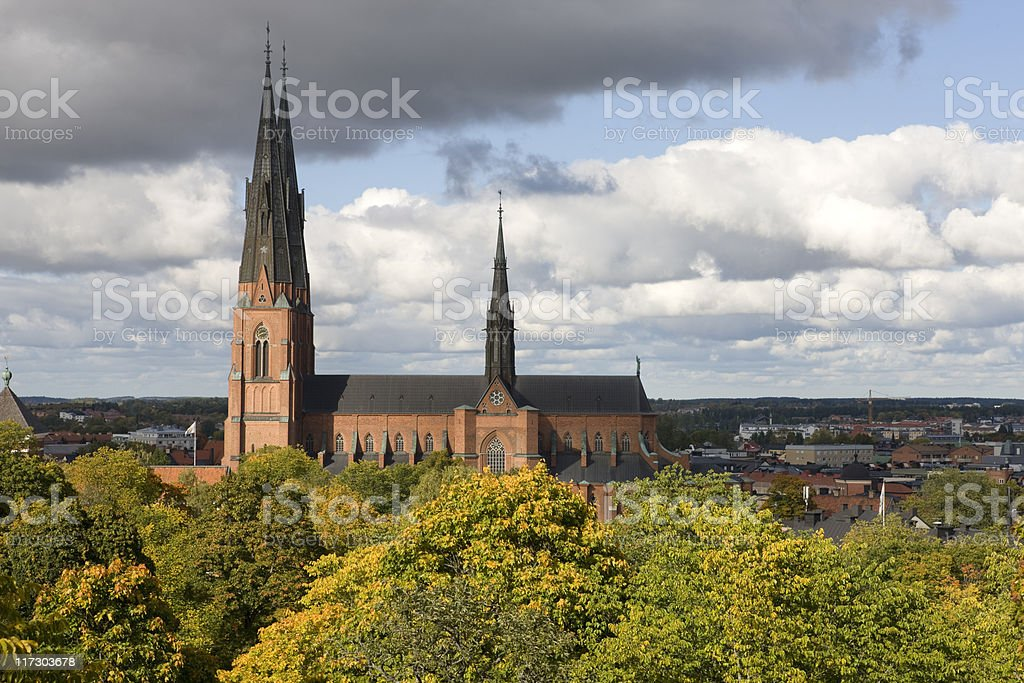 Uppsala Cathedral (Domkyrka) stock photo