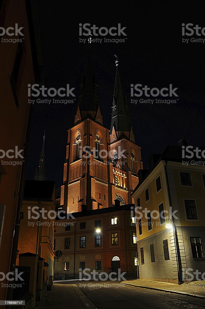 Uppsala Cathedral (Church) Sweden stock photo