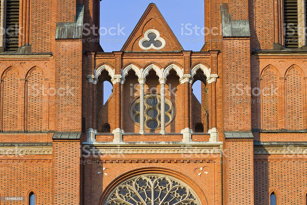 Uppsala Cathedral, Sweden stock photo