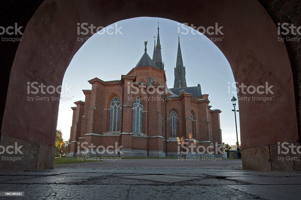 Uppsala Cathedral, the east side stock photo