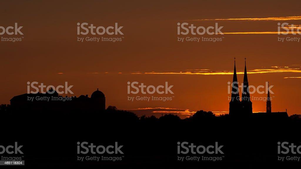 Uppsala Skyline stock photo
