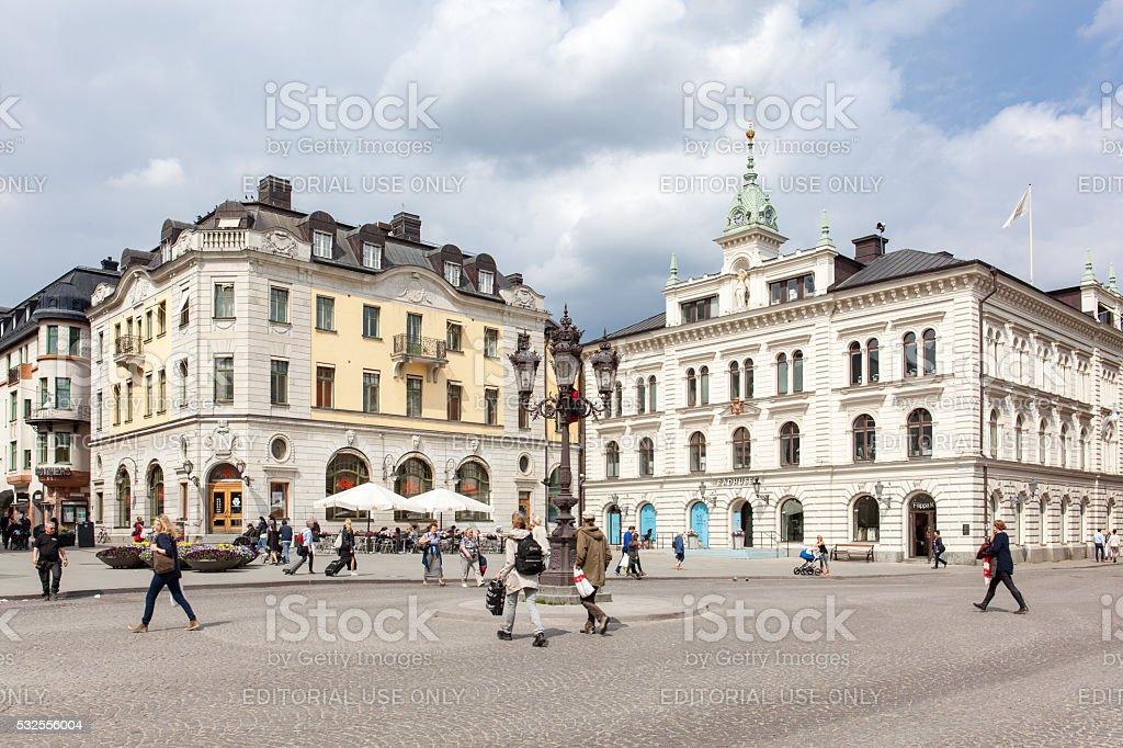 Uppsala Square stock photo