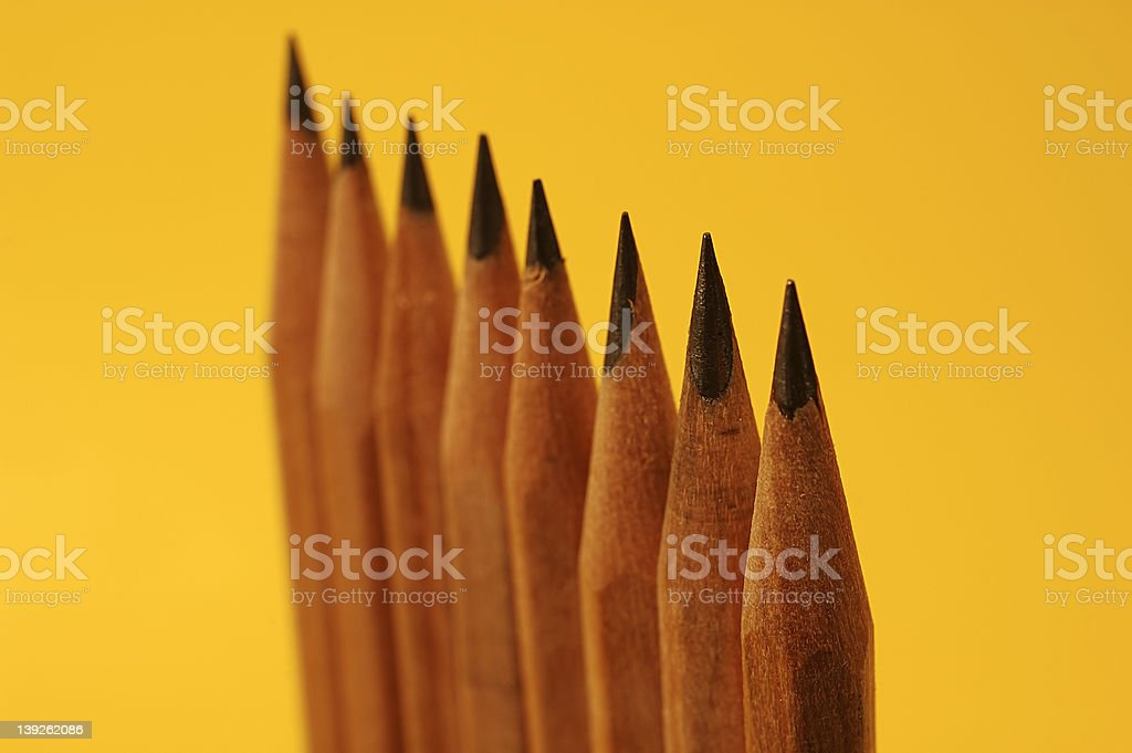Upright Pencils royalty-free stock photo