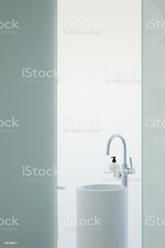 Upright sink in modern bathroom royalty-free stock photo