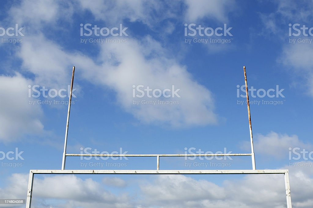 uprights in the sky stock photo