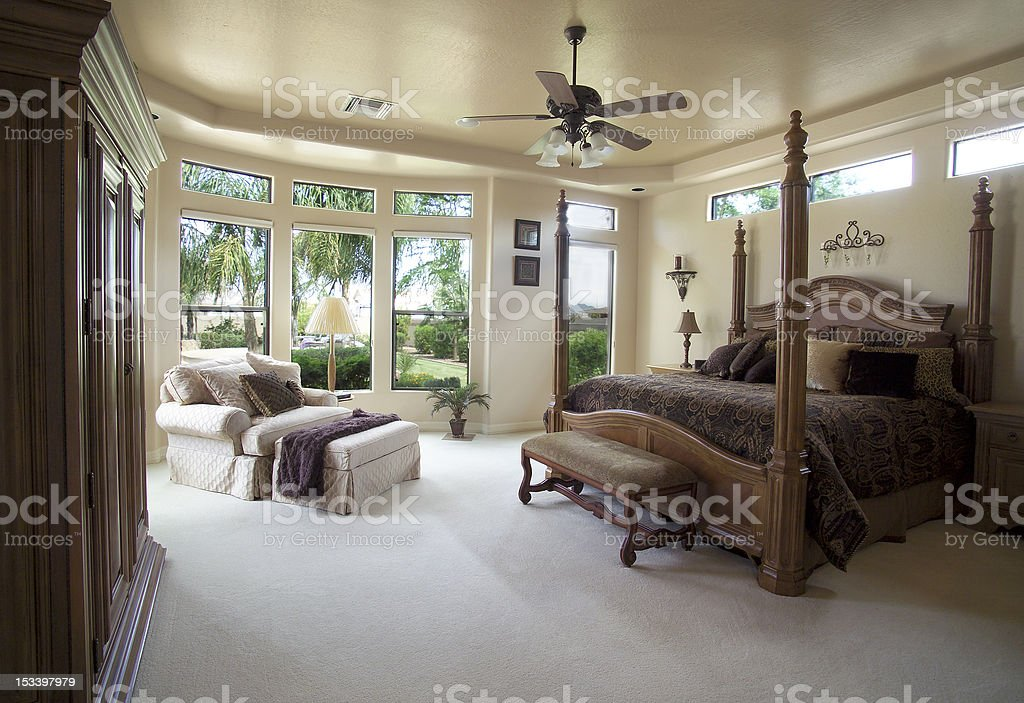 Upscale Bedroom stock photo