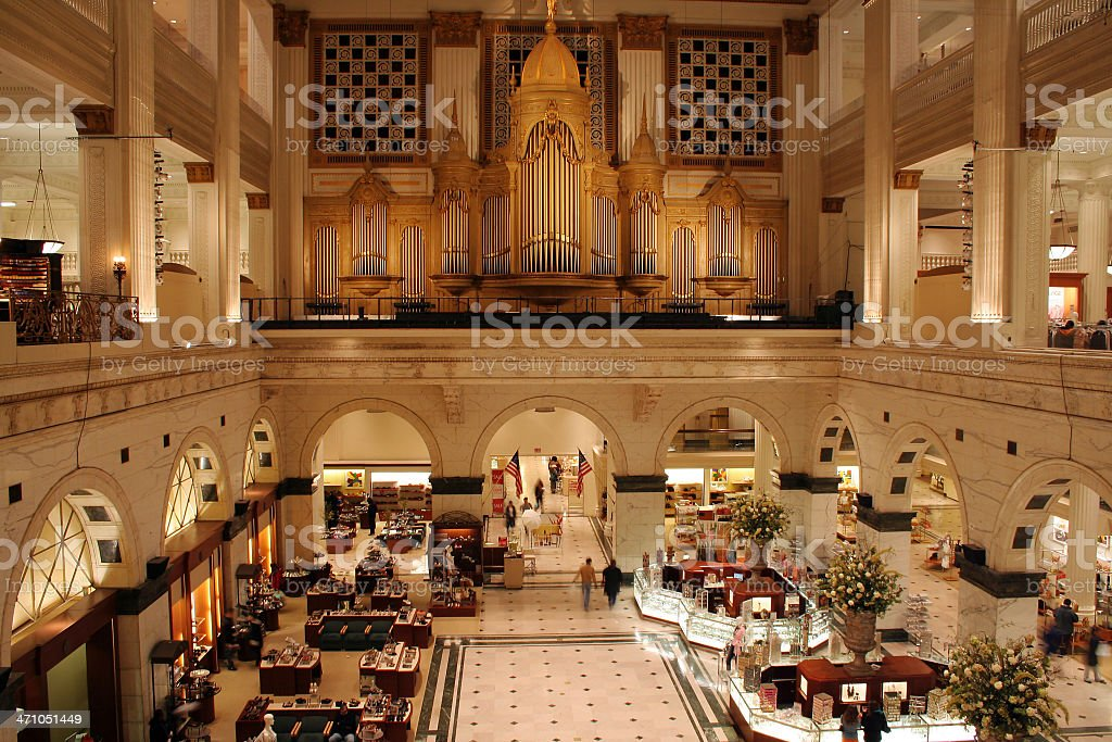 Upscale department store - inside view royalty-free stock photo