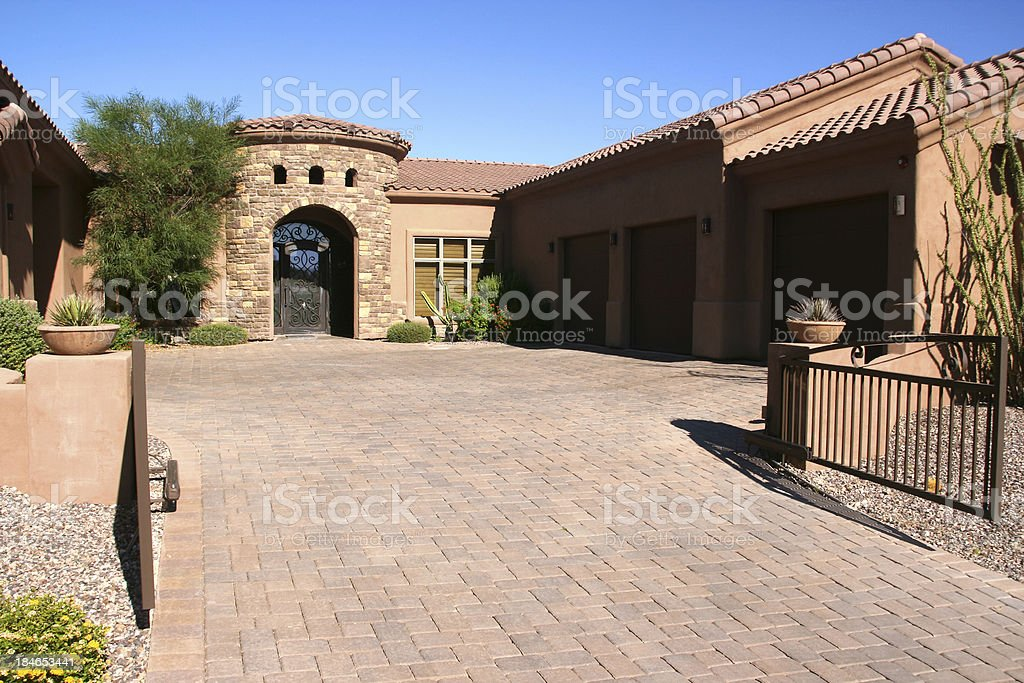 Upscale Home in the Southwest stock photo