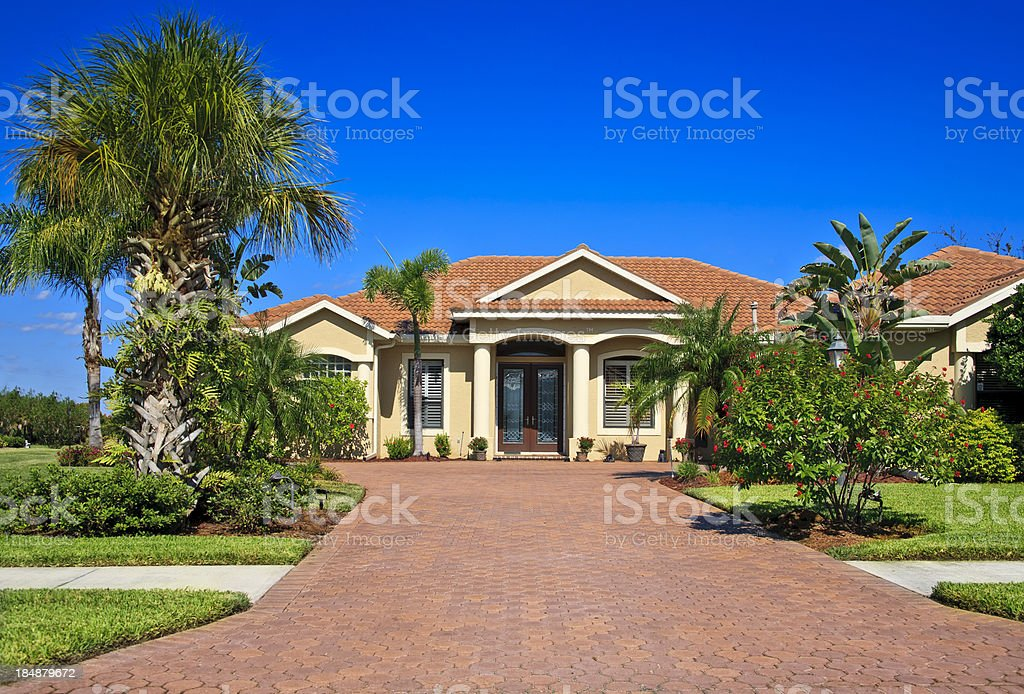 Upscale Home stock photo