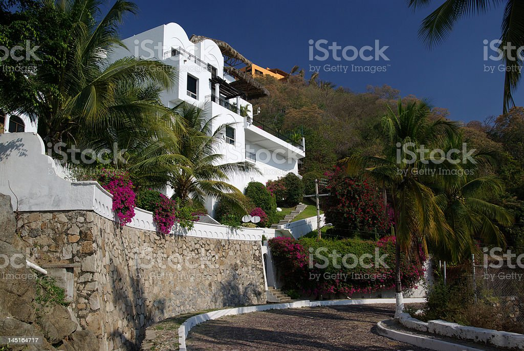 Upscale Mexican Residential Area stock photo