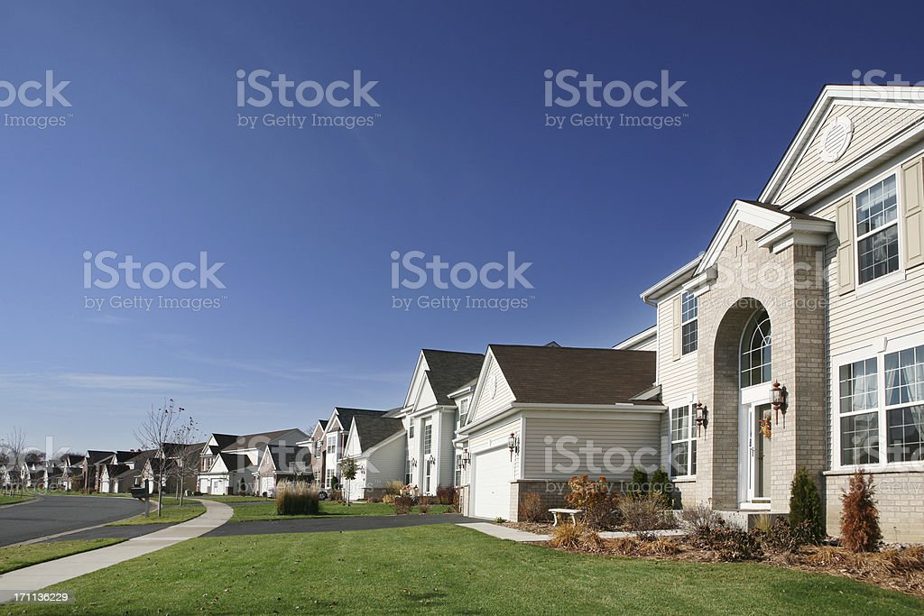 Upscale Suburban Street royalty-free stock photo