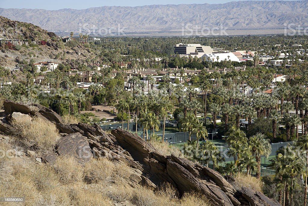 Upscale Tennis Club Area Of Palm Springs stock photo