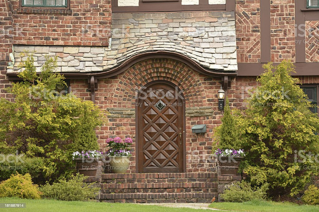 Upscale Tudor Home royalty-free stock photo