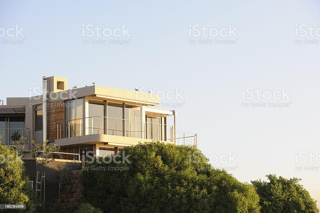 Upscale Villa at Bloubergstrand Beachfront Cape Town stock photo